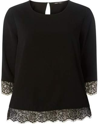 103a356600a89 at Dorothy Perkins · Dorothy Perkins Womens   Only Black 3 4 Sleeve Lace Top