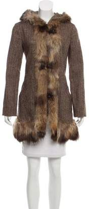 Marni Fur-Trimmed Wool Coat
