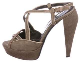 Burberry Platform Slingback Sandals
