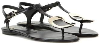 Roger Vivier Thong Chips embellished leather sandals