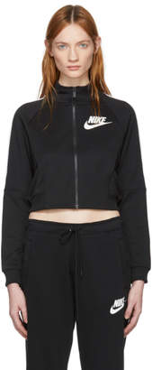 Nike Black Cropped Polyknit Track Jacket