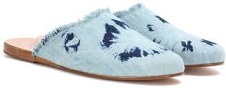 Ancient Greek Sandals Pasoumi denim slippers