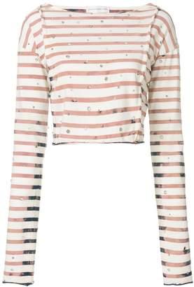 Faith Connexion striped cropped T-shirt