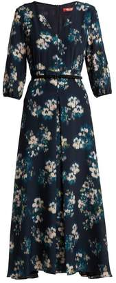 Max Mara Gavettea Dress - Womens - Navy Print