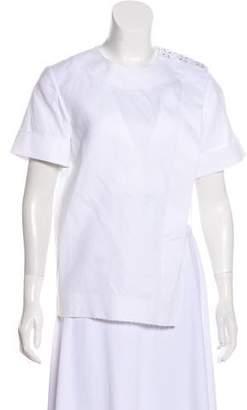 Alexander Wang Asymmetrical Short Sleeve Top