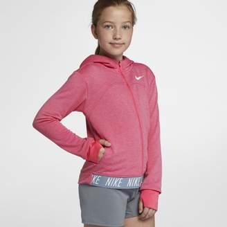 Nike Dri-FIT Core Studio Older Kids'(Girls') Full-Zip Training Hoodie