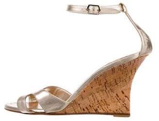 Manolo Blahnik Leather Sandal Wedges