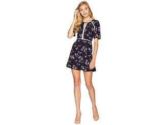 Juicy Couture Knit Roma Floral Texture Dress Women's Dress