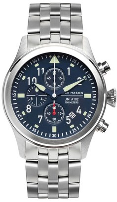 Men's Jack Mason Aviation Chronograph Bracelet Watch, 42Mm $350 thestylecure.com