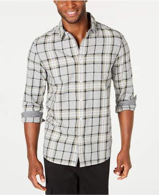 American Rag Men Contrast Trim Plaid Shirt
