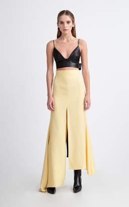 Aleksandre Akhalkatsishvili Asymmetric Maxi Slit Crepe Skirt
