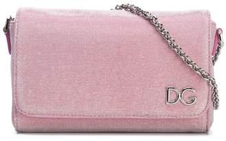 Dolce & Gabbana metallic thread shoulder bag