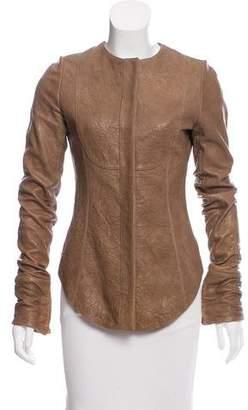 Thomas Wylde Embellished Leather Jacket