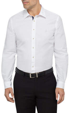 Thomas Pink Snell Contrast Trim Casual Shirt