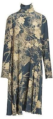Dries Van Noten Women's Funnelneck Silk Crepe Midi Dress