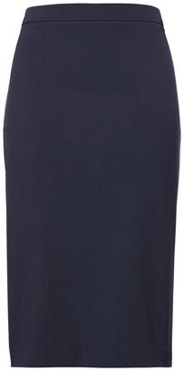 Banana Republic Petite Washable Italian Wool-Blend Pencil Skirt with Side Slit