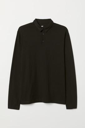 H&M Polo Shirt Regular fit - Black