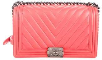 Chanel 2016 Medium Plus Chevron Boy Bag