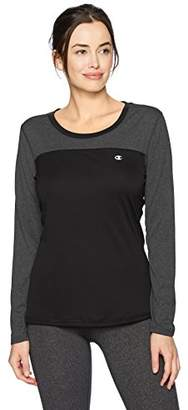 Champion Women's Double Dry Heather Long Sleeve Tee