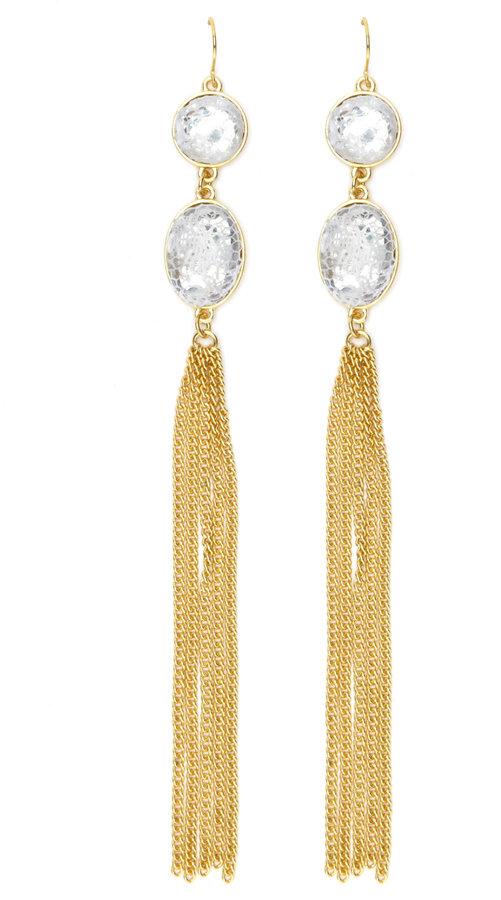 Charlotte Russe Lace-Gem Dangle Earrings