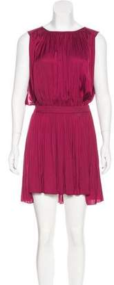Morgan Carper Sleeveless Pleated Dress
