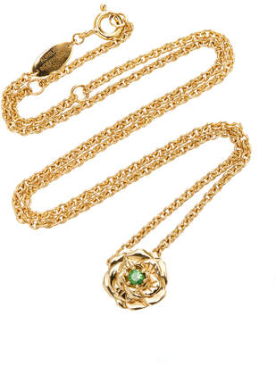 Aurelie Bidermann Floral Rose Necklace
