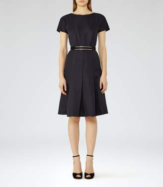 Reiss Hallie Textured Fit And Flare Dress