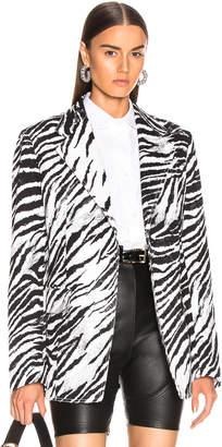 Brognano BROGNANO Zebra Blazer in Black & White   FWRD