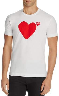 Comme Des Garçons PLAY Heart Graphic Tee $100 thestylecure.com