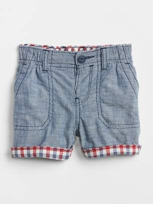 Gap Plaid Roll-Cuff Shorts