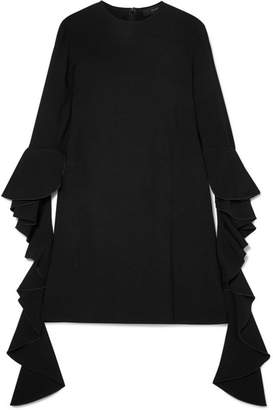 Ellery Kilkenny Ruffled Crepe Mini Dress - Black