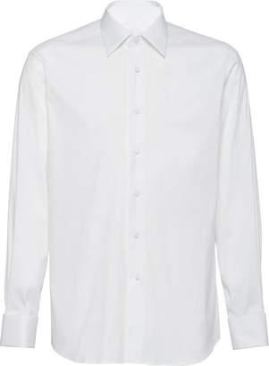 Prada long-sleeve tuxedo shirt