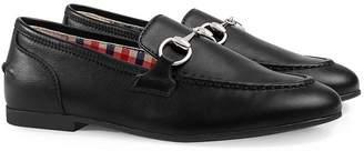 Gucci Kids Children's Jordaan leather loafer