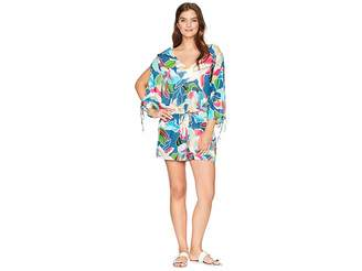 LaBlanca La Blanca Go with The Flo-Ral Cool Shoulder Romper Cover-Up