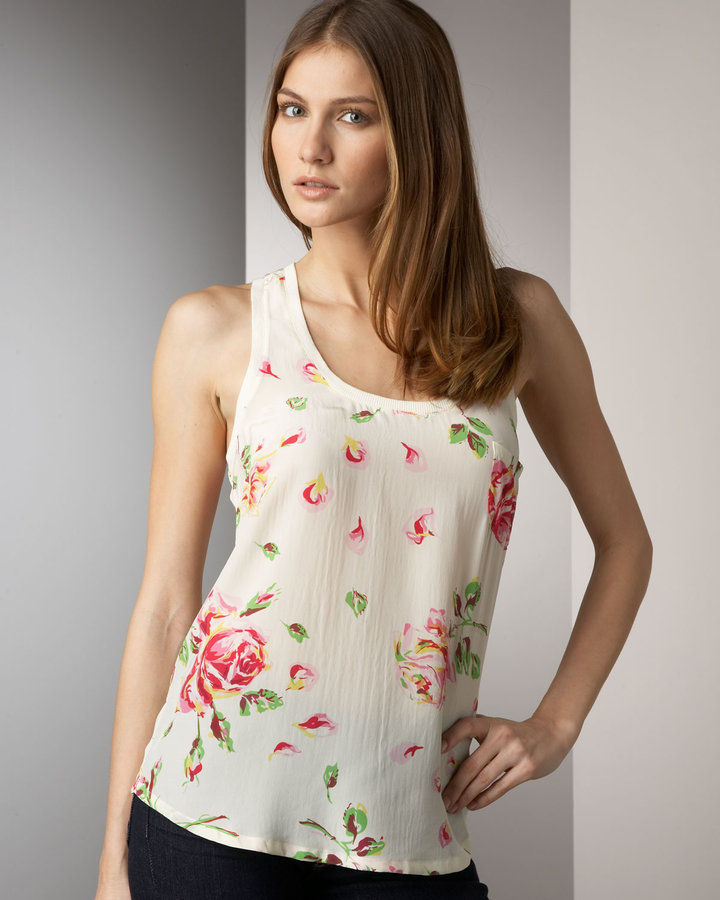 Joie Alicia Floral Print Tank