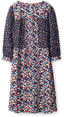 Boden Hotchpotch Pattern Mix Pintuck Dress