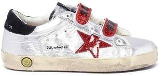 Golden Goose 'Superstar Old School' glitter star mirror leather toddler sneakers