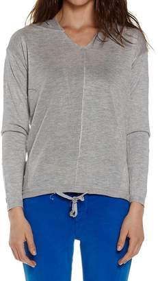 Dinamit Jeans Dinamit Juniors Hooded Pullover Cotton Sweater Grey SM