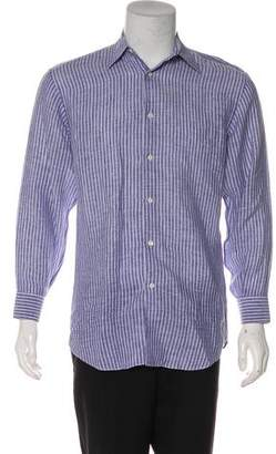Salvatore Ferragamo Striped Linen Shirt