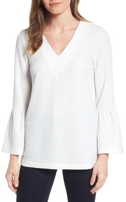Petite Women's Halogen Bell Sleeve Tunic $79 thestylecure.com