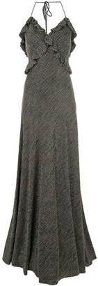 Jill Stuart metallic striped maxi dress