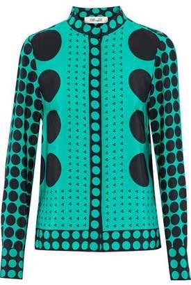 Diane von Furstenberg Printed Silk Shirt