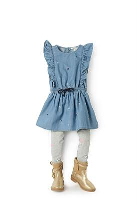 Country Road Ditsy Chambray Dress