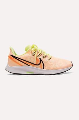 Nike Air Zoom Pegasus 36 Premium Rise Flyknit Sneakers - Peach
