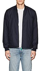 Save The Duck SAVE THE DUCK MEN'S TECH-FABRIC BOMBER JACKET-BLUE SIZE L