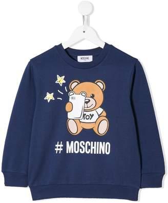 Moschino Kids logo bear sweatshirt