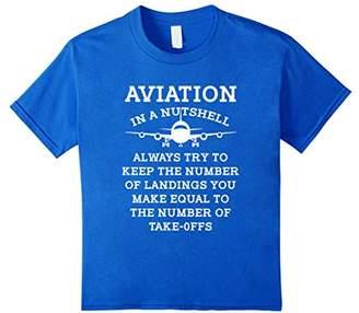 Aviation In A Nutshell Funny Pilot Flight Aircraft T Shirt