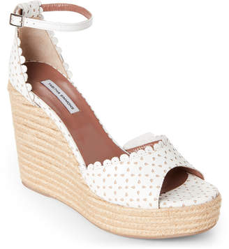 Tabitha Simmons Harp Perforated Platform Wedge Espadrilles