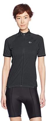C3fit (シー スリー フィット) - (シースリーフィット)C3fit サイクリングウェア QDライド半袖シャツ 3FW47151 [レディース] 3FW47151 K ブラック M