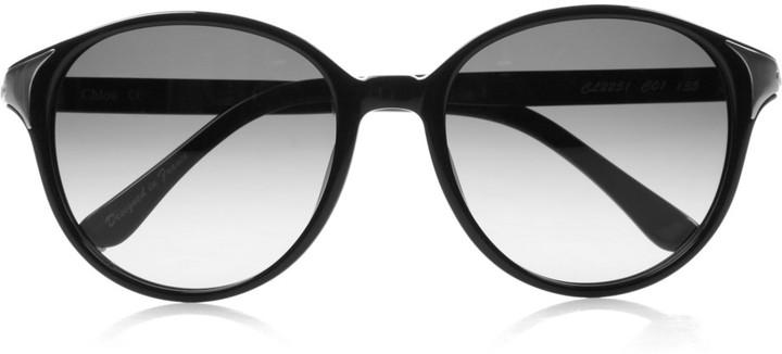 Chloé Round-frame acetate sunglasses
